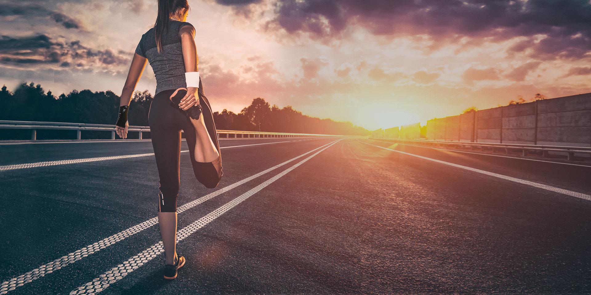 Femme courir